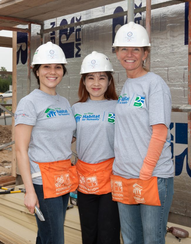 California Bank and Trust Employees at Habitat for Humanities Local Build in San Diego