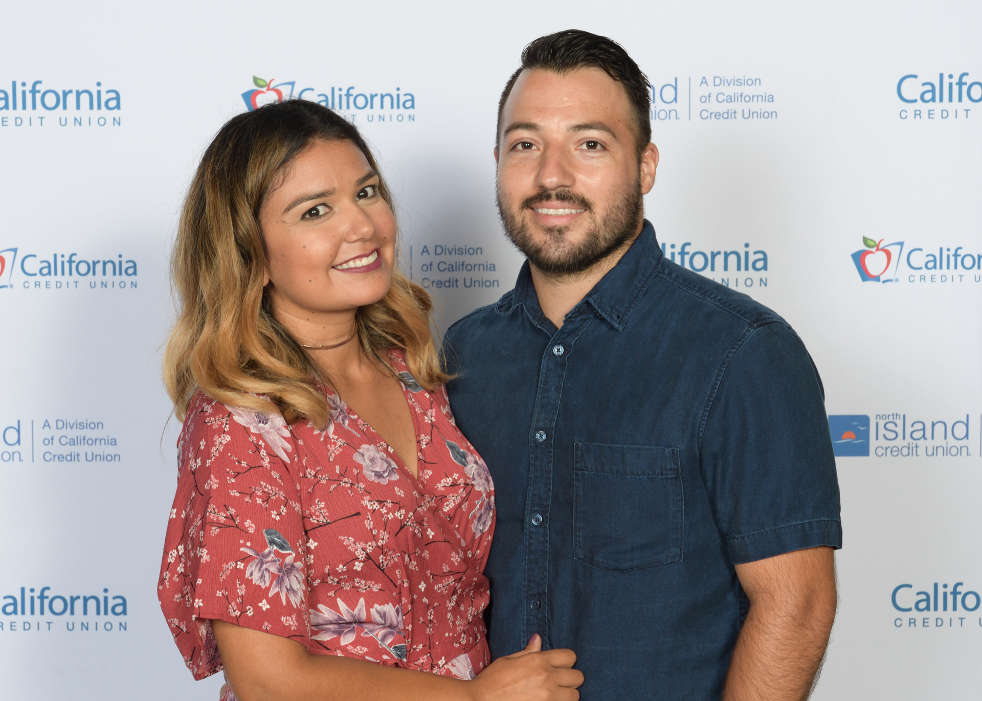 Couple at California Credit Union annual meeting