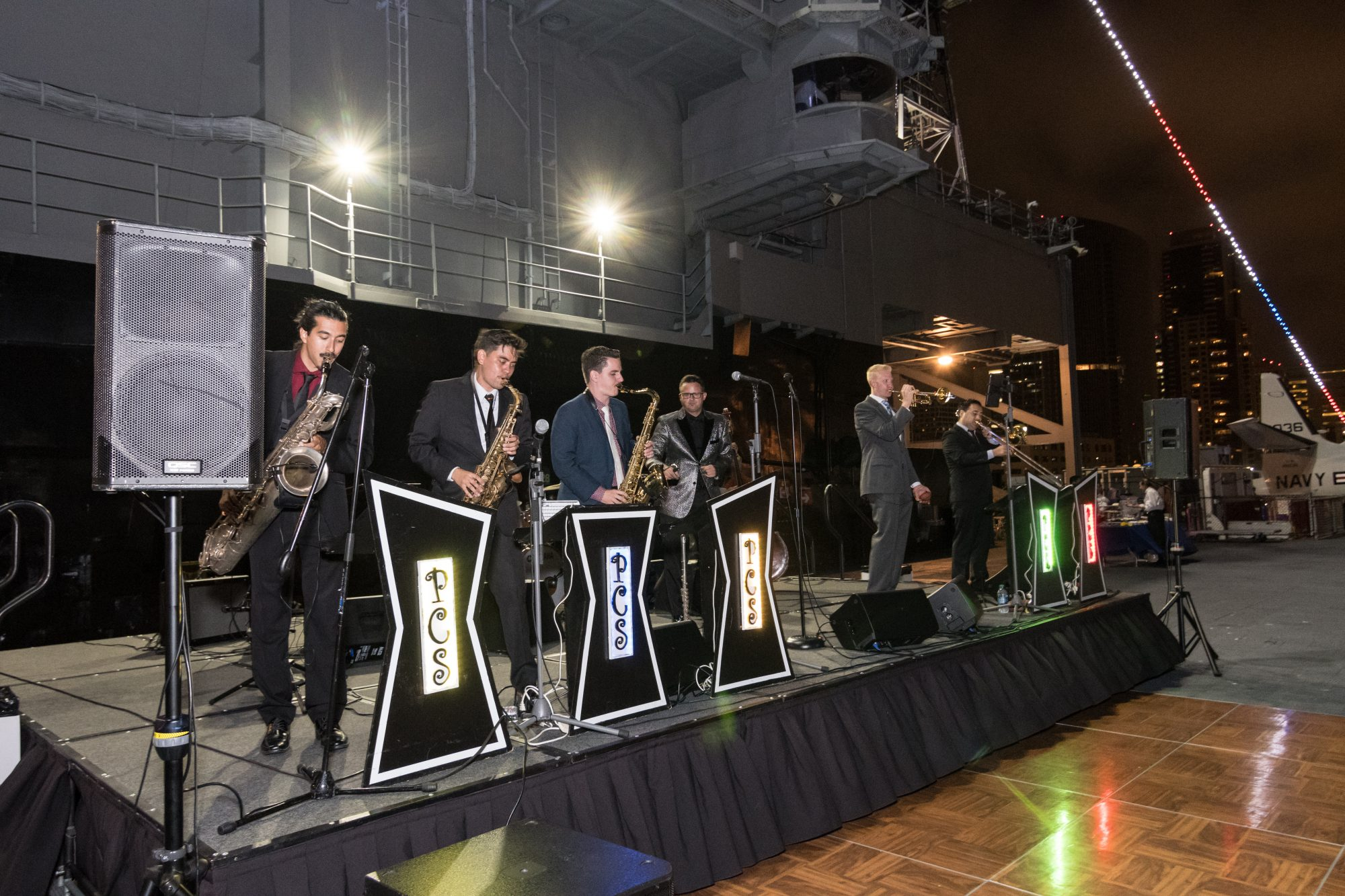 Band Performing on USS Midway for North Island Credit Union's 75th anniversary