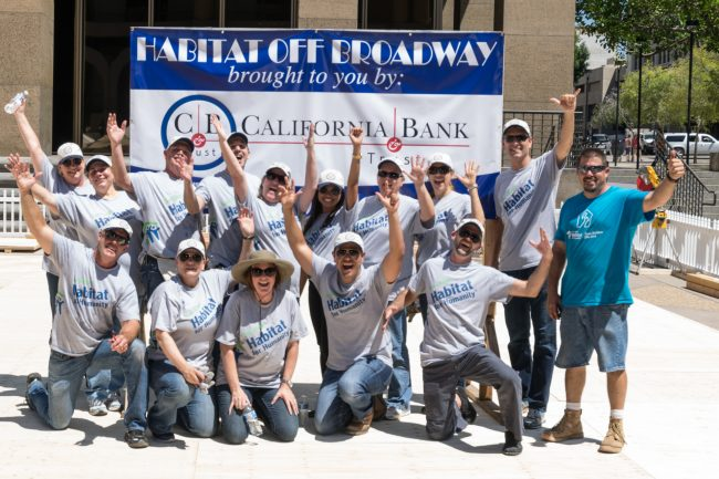 "California Bank and trust volunteers having a good time at ""Habitat off Broadway"" in downtown San Diego, Clay Chapman Photography"