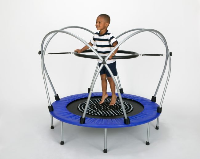 Youth on Funtek therapeutic Trampoline